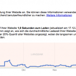 Website-Leistung: 1.9 Sekunden