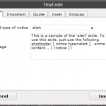 TinyCode: Editor-Popup