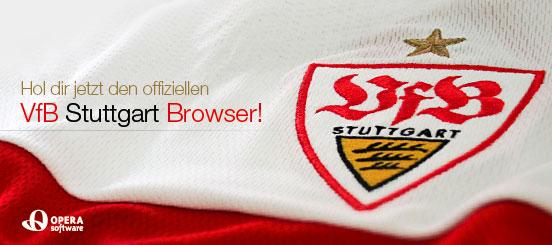 Der VfB Stuttgart Browser auf Basis des Opera v9.64